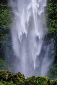 Cascading water of Watson Falls
