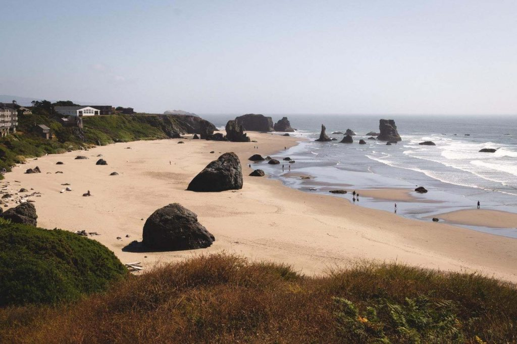 View over Bandon Beach in Oregon