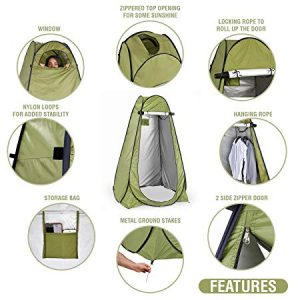 Privacy pop-up tent