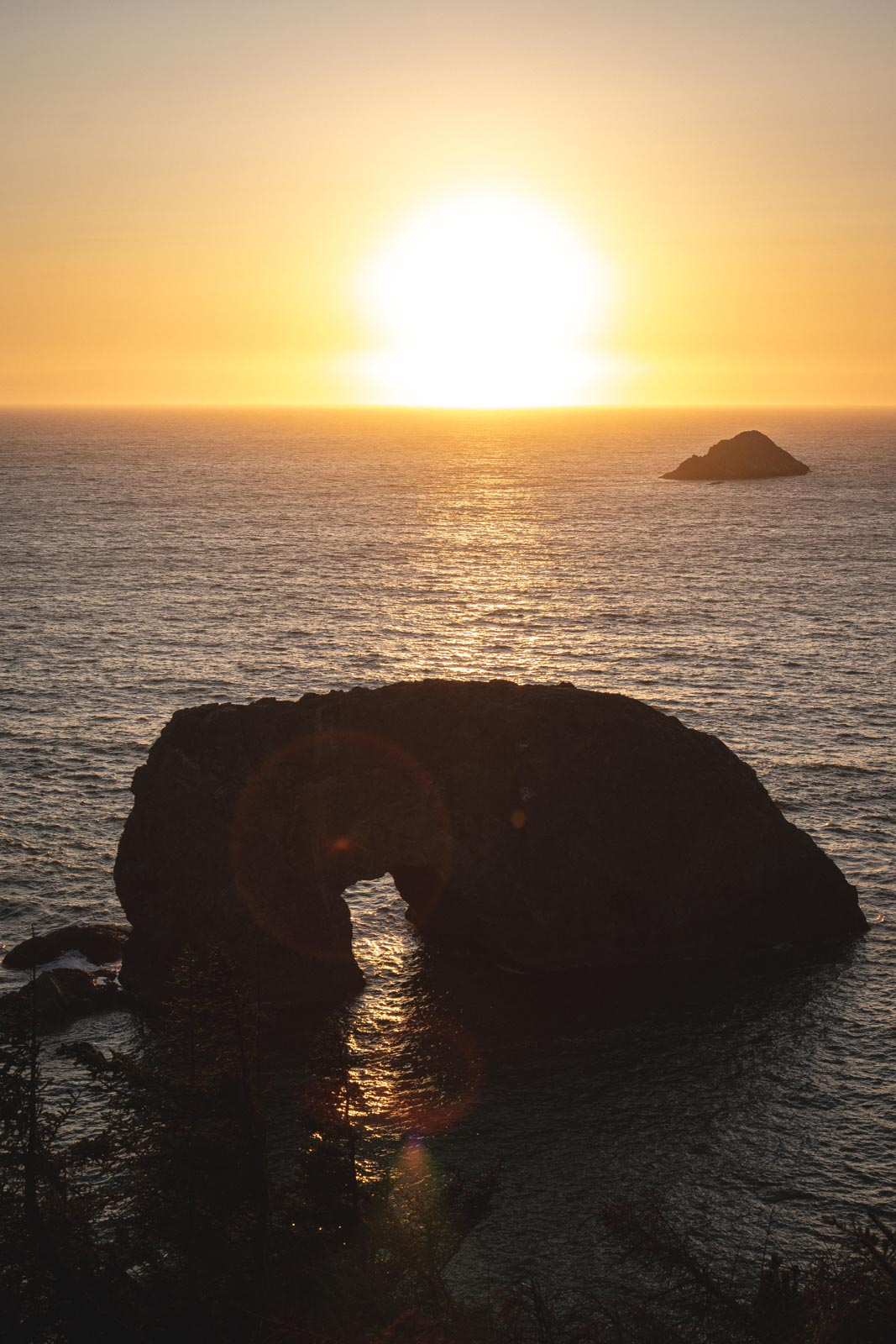 Sunsetting at the Arch Rock
