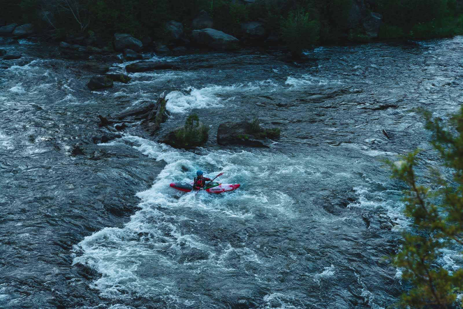 Deschutes River kayker