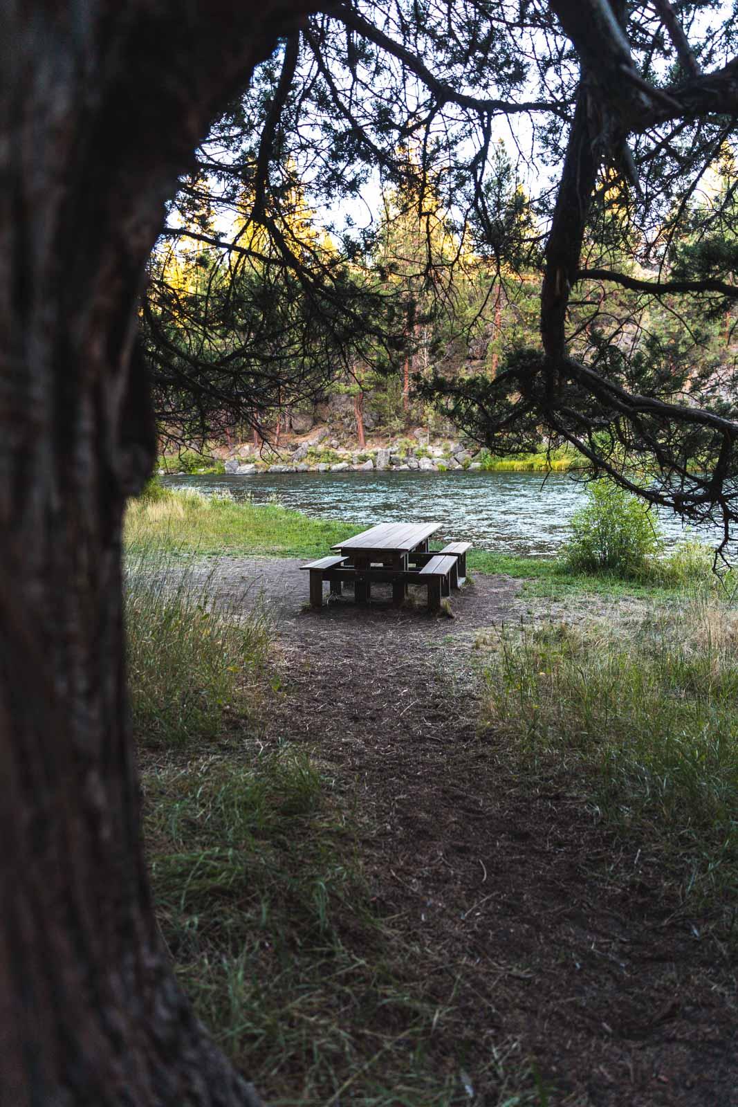 The Deschutes River Trail picnic area