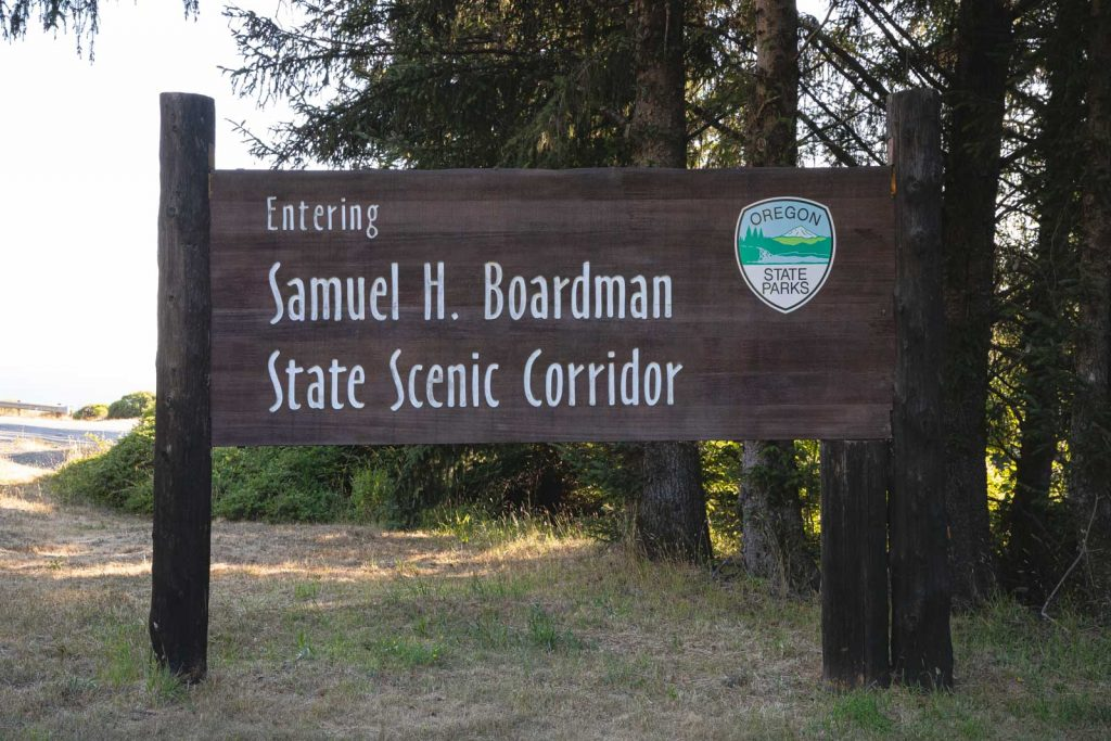 Entrance sign at Samuel H. Boardman