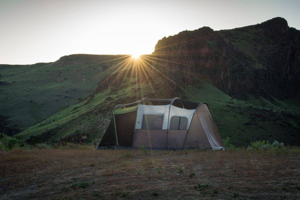 A tent in Owyhee Canyonlands