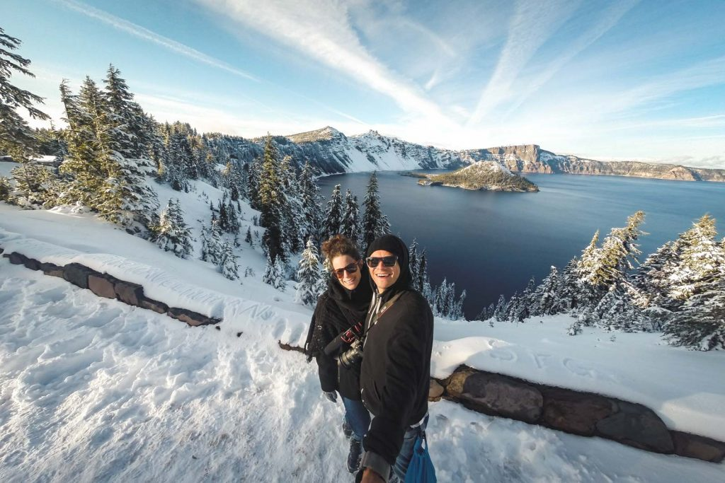 Nina and Garrett at Crater Lake