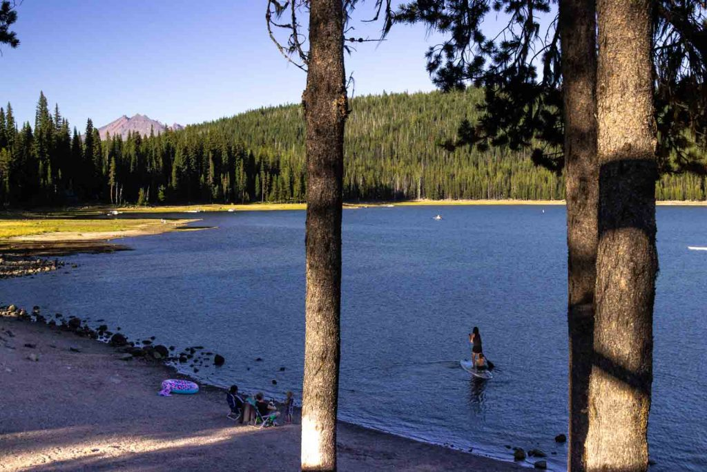 Water attractions on the Elk Lake Campground