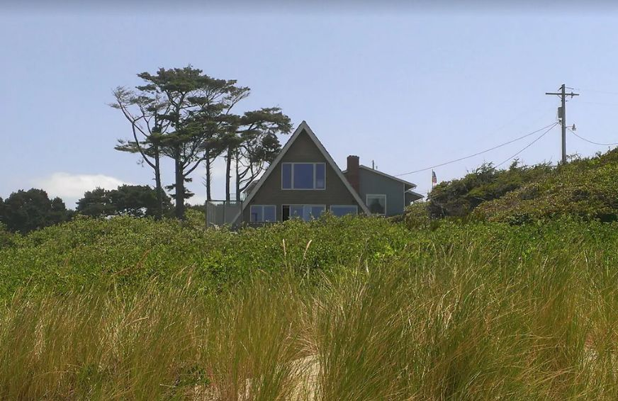 Screenshot of photo of private oceanfront A-Frame - Oregon Coast campgrounds