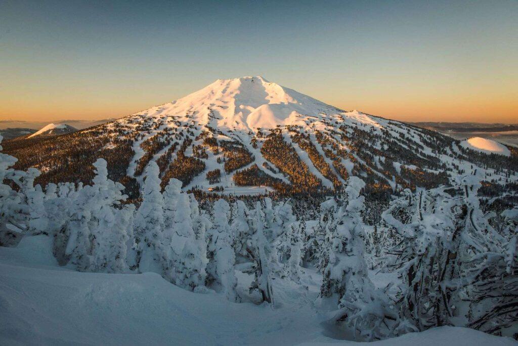 Mt. Bachelor Oregon in winter