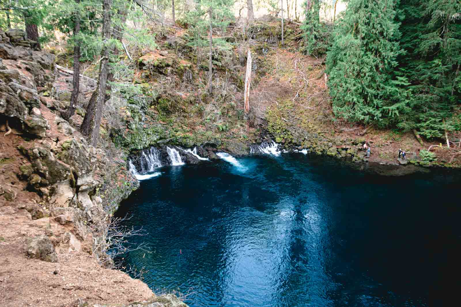 The Blue Pool will delight you with its beauty