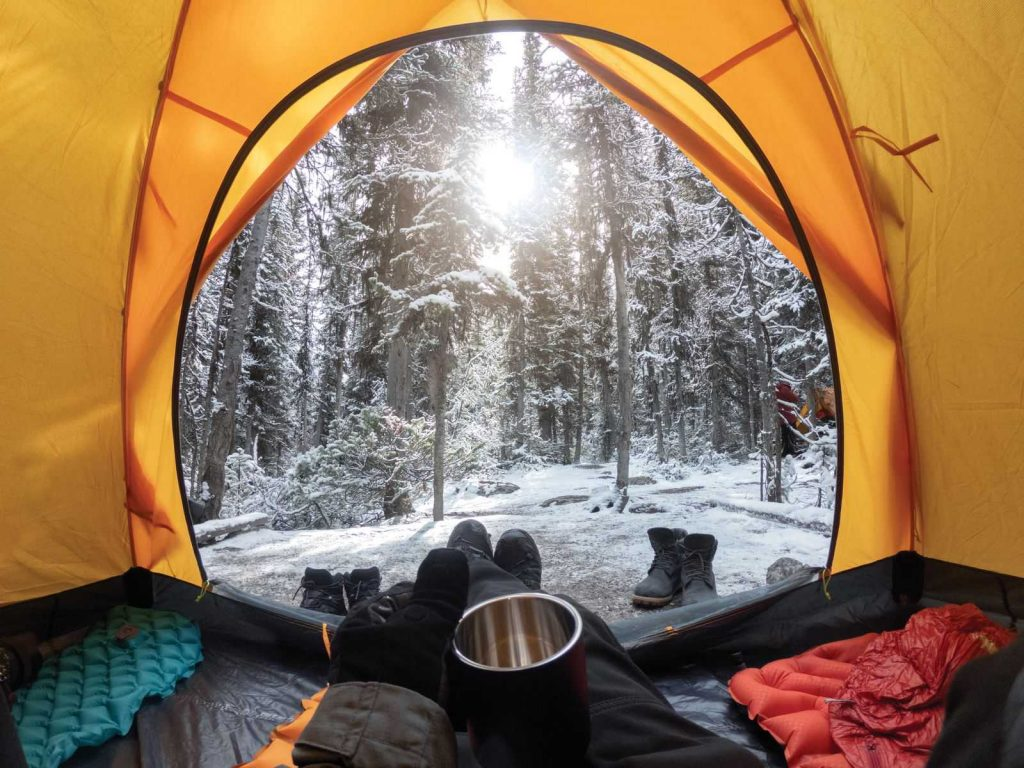 Oregon in winter has a bunch of lovely places for camping