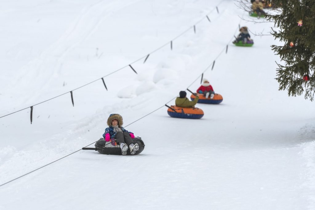 Oregon in winter is a great place for snow tubing