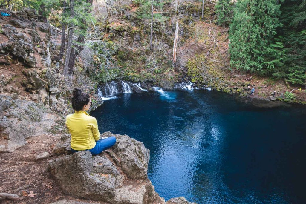 Blue Pool is a cool hike near Bend, Oregon