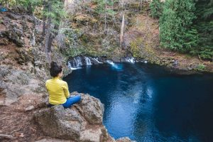 Blue Pool is a cool hike near Bend, Oregon