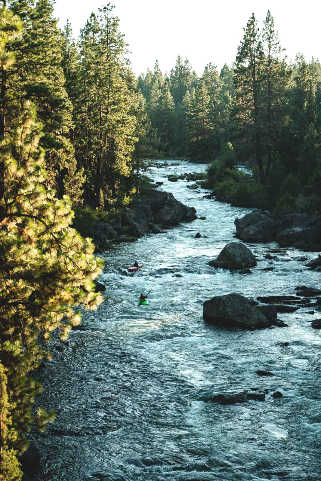 White water rafting on the Deschutes River — add this to your list if you're wondering what to do in Bend