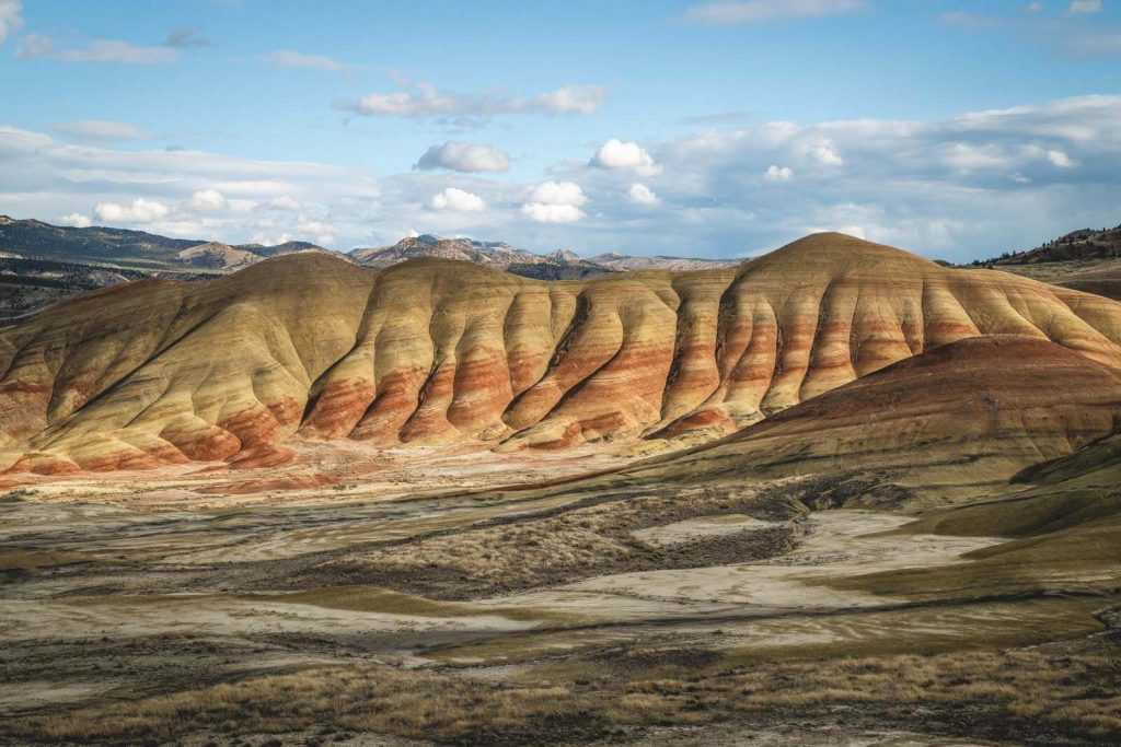 Exciting view of Painted Hills in the John Day Fossil Beds.