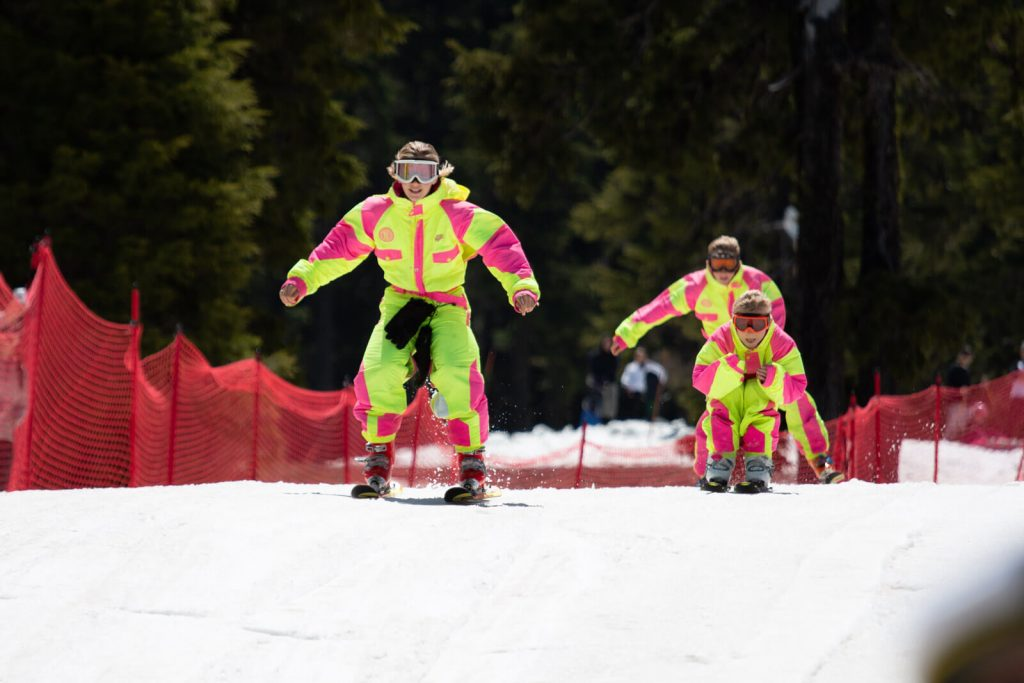 A photo of skiiers at Mount Bachelor - an adrenaline rushing thing to do in Bend