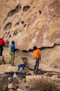 People rock climbing on Smith Rock — one of many exciting things to do in Bend