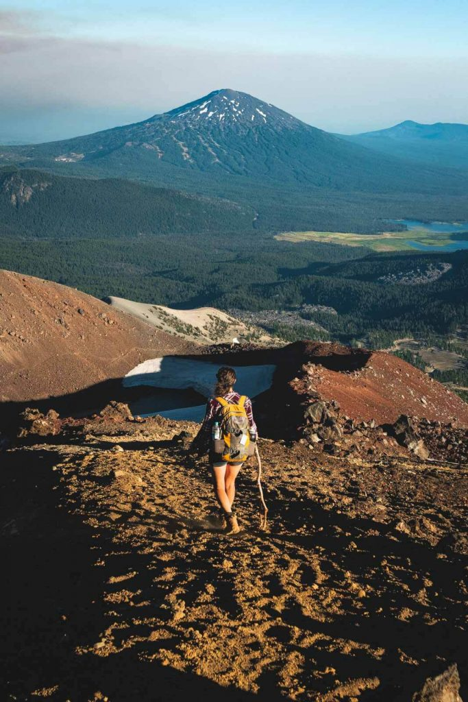 Me hiking on South Sister Trail — one of several exciting things to do in Bend