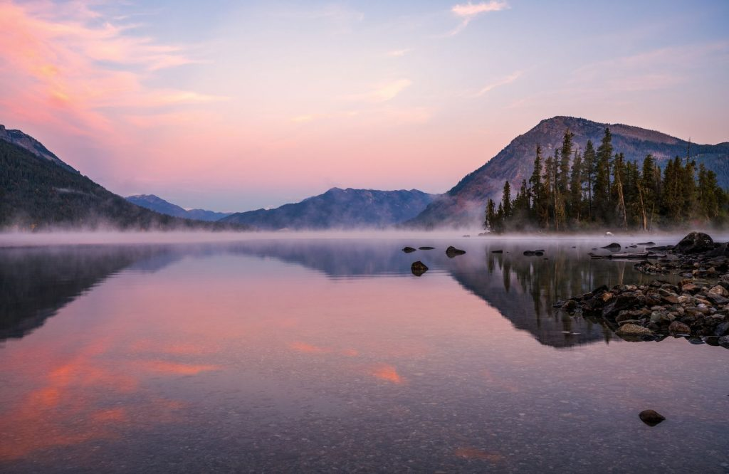 Lake Wenatchee is a beautiful place to stop on your Washington road trip.
