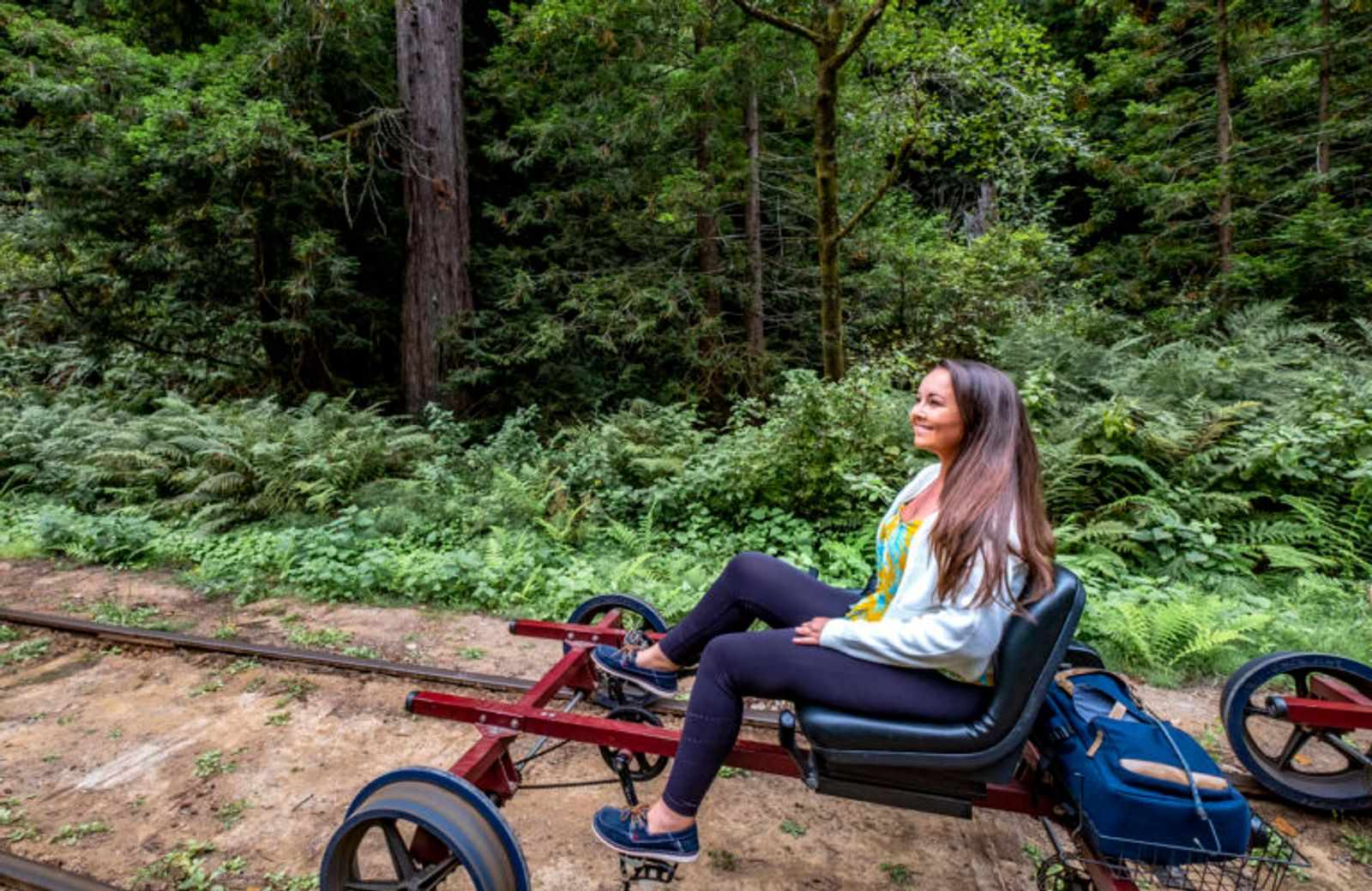 Rail biking is an exciting thing to do in Northern California