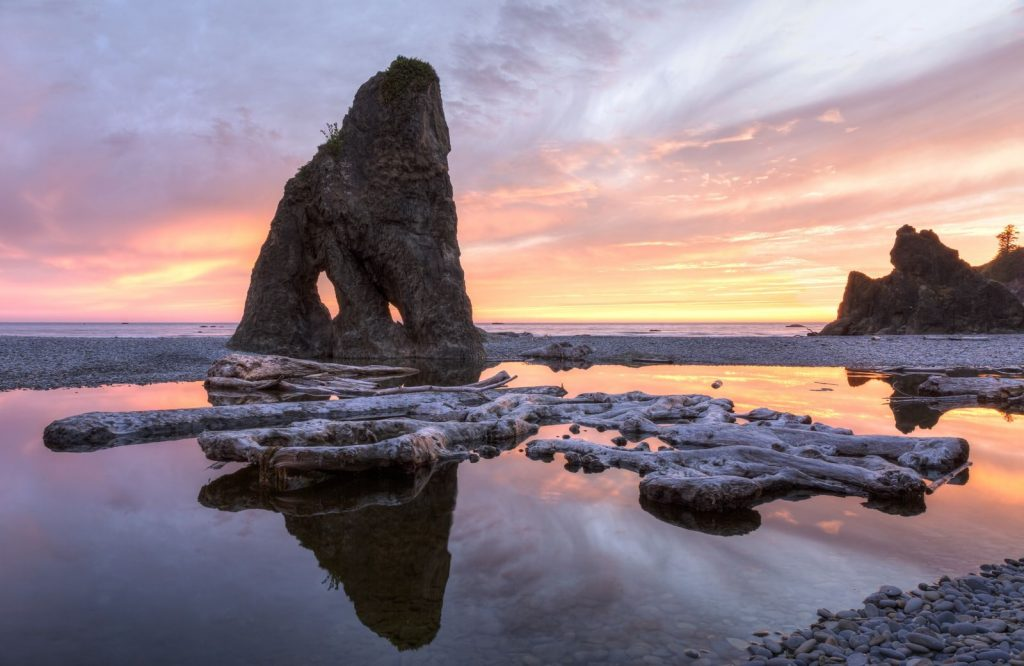 Ruby Beach is a gorgeous place to stop on your Washington road trip.