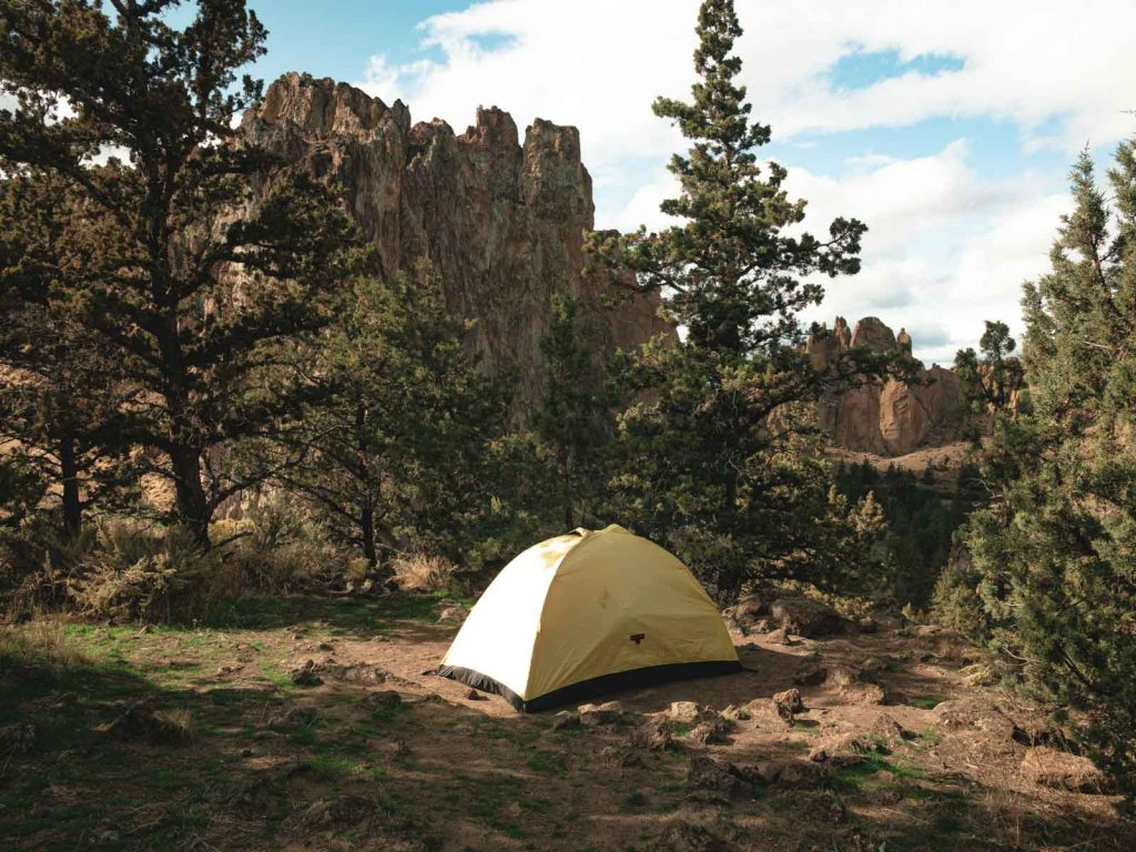 Our biovac tent that we slept in during our Smith Rock hike.