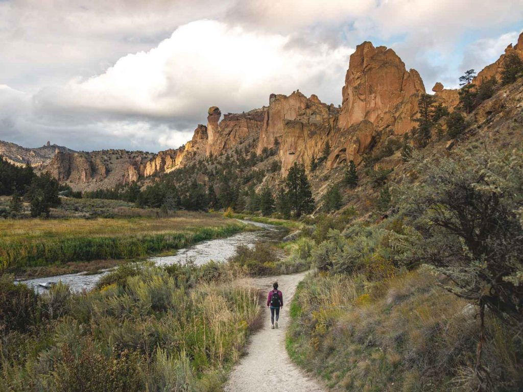 One of the best hikes on the Misery Ridge Trail is along the Crooked River.