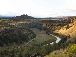 The view from hiking the Mesa Verde Trail from our Smith Rock hike.