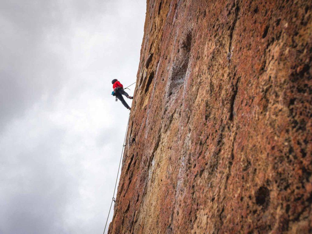 Rock climbing near Misery Ridge Trail.