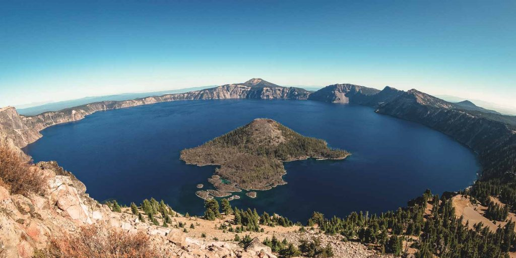 Be sure to stop at Wizard Island on your Crater Lake hikes.
