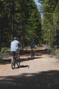 There are some fun biking trails around Silver Falls State Park.