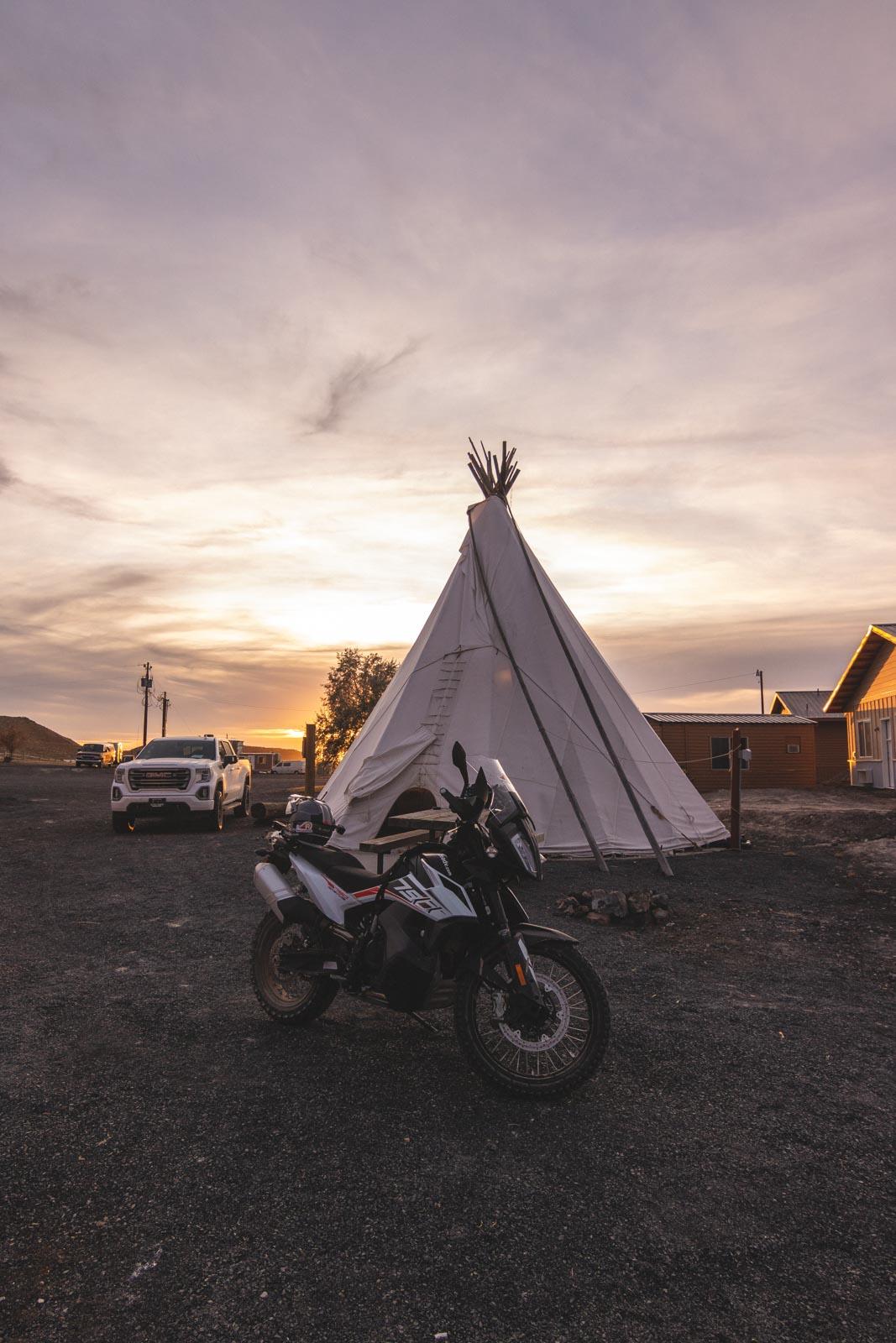 Sunset while camping at Crystal Crane Resort in Oregon