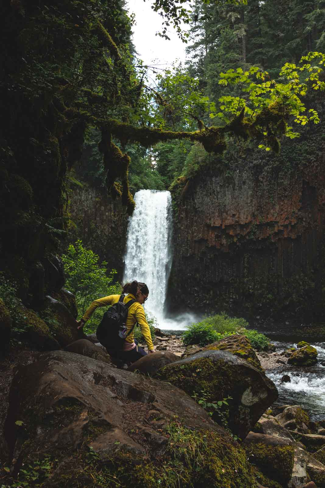 The entrance to Abiqua Falls was stunning.