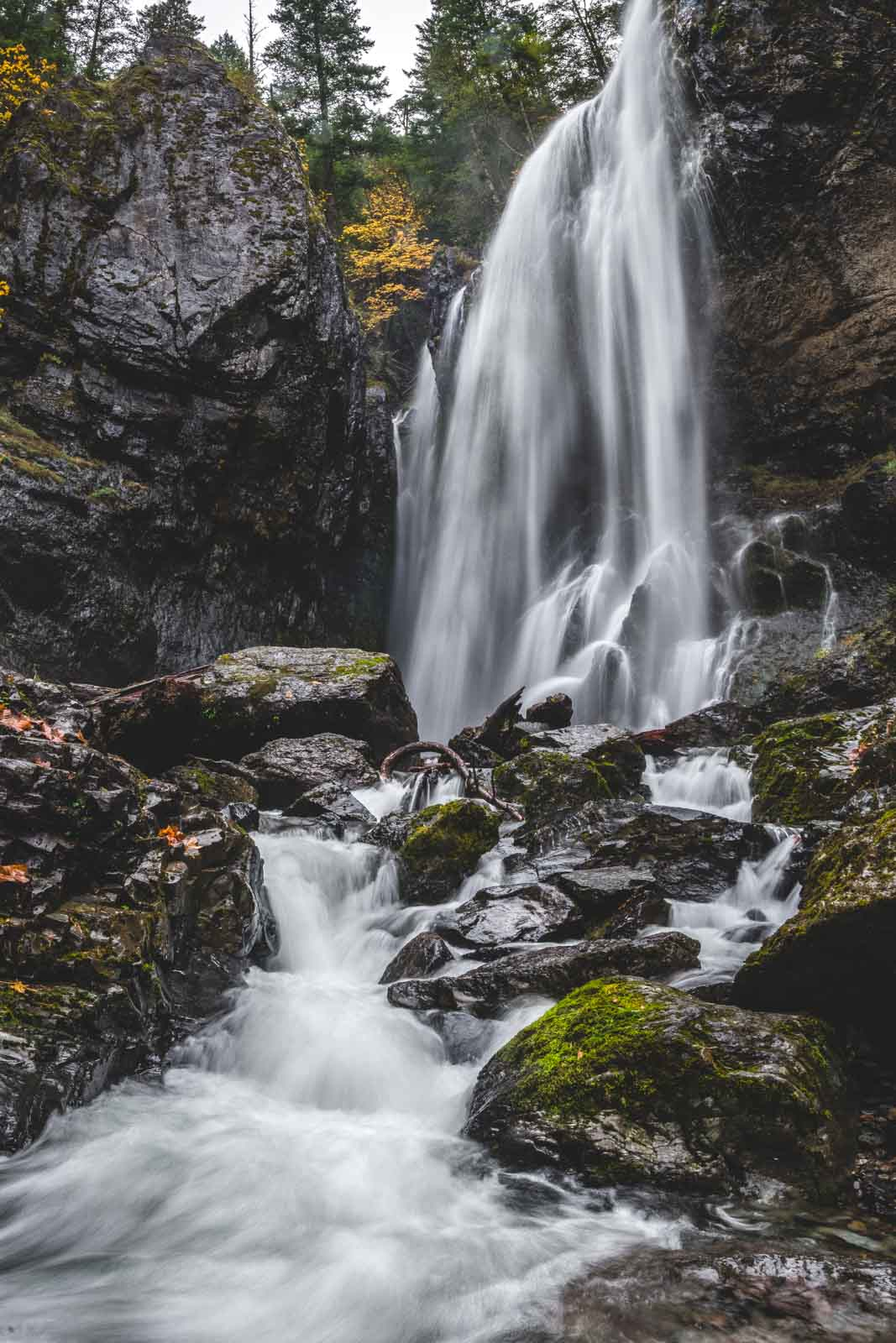 Henline Falls is a scenic and worthwhile Oregon waterfall hike.