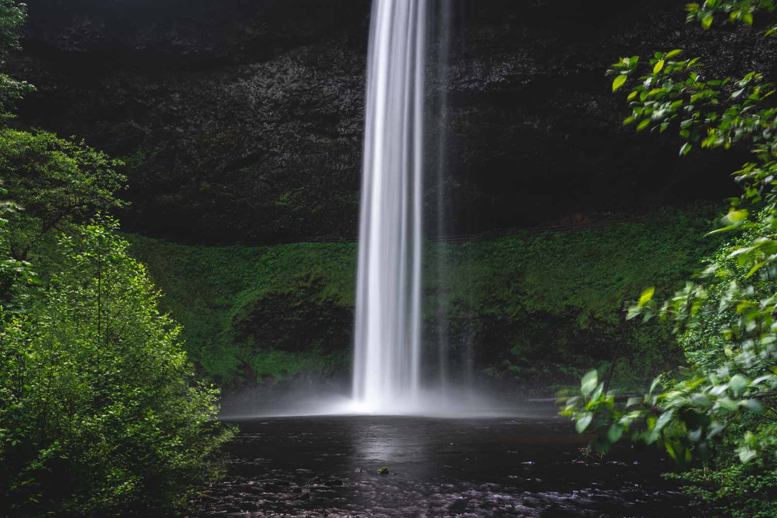 South Falls is the most spectacular waterfall on the Trail of 10 Falls.