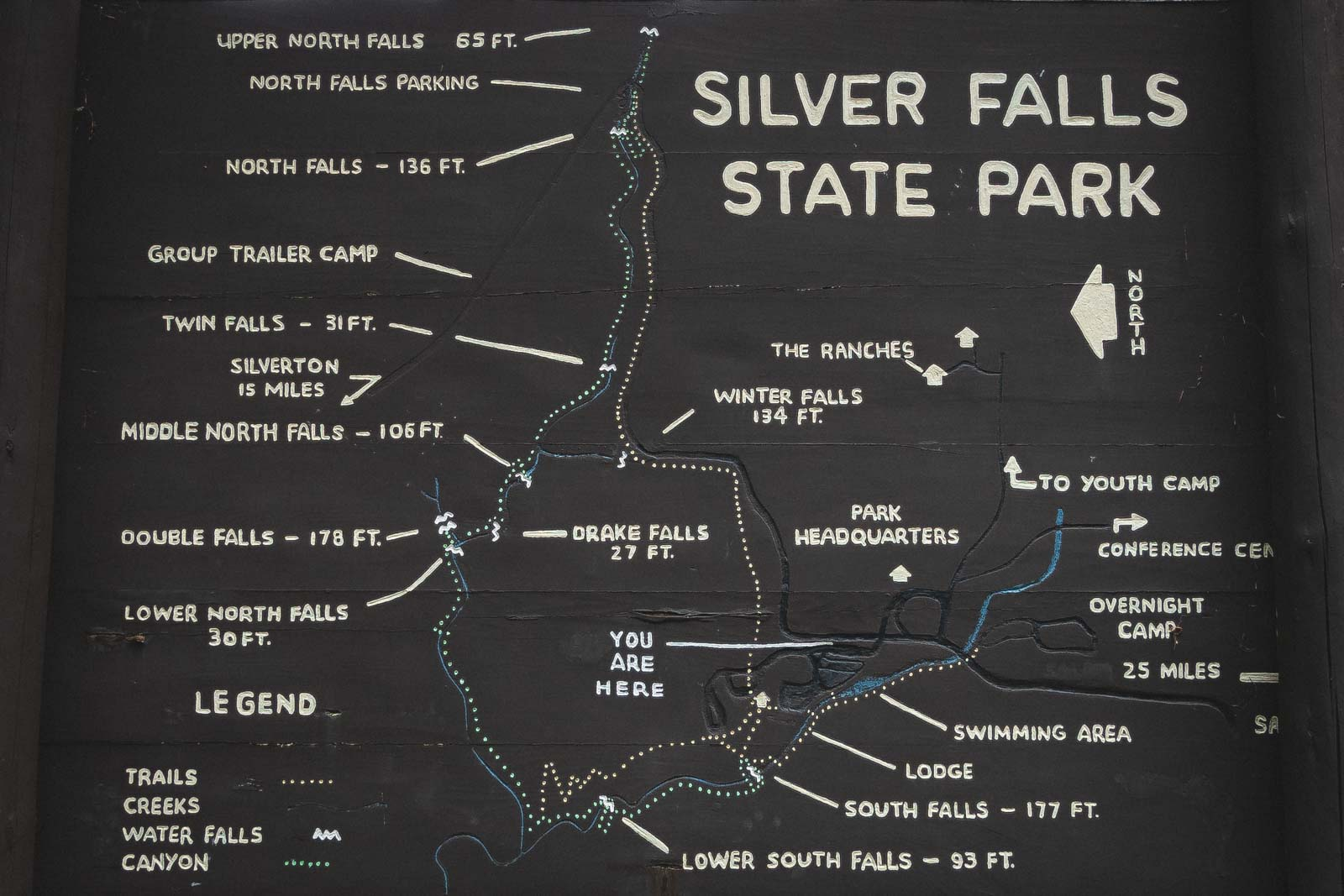 Use this map to guide you around the Trail of Ten Falls.