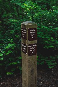 Silver Falls State Park is marked with helpful trail posts.