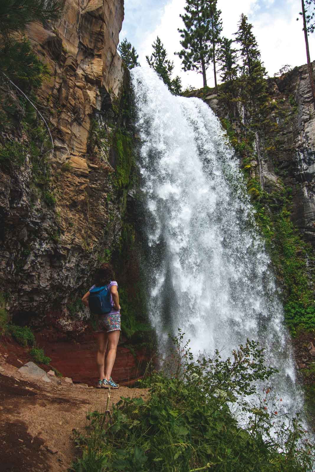 Visit the bottom of Tumalo Falls when you're on your Tumalo Falls hike.