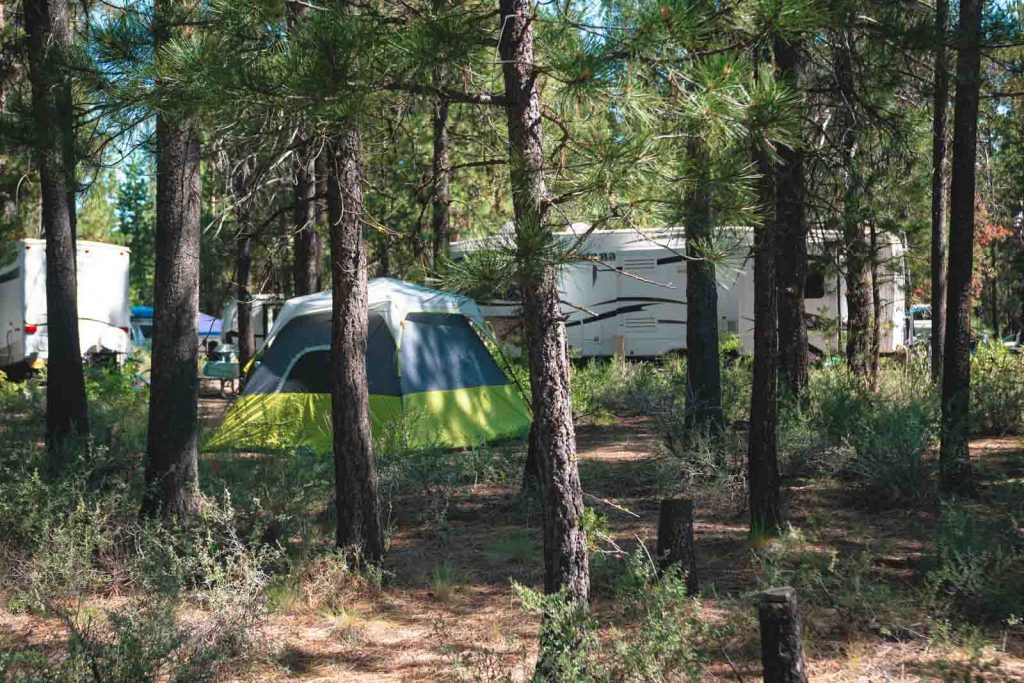 Be sure to do some camping when you visit LaPine State Park.