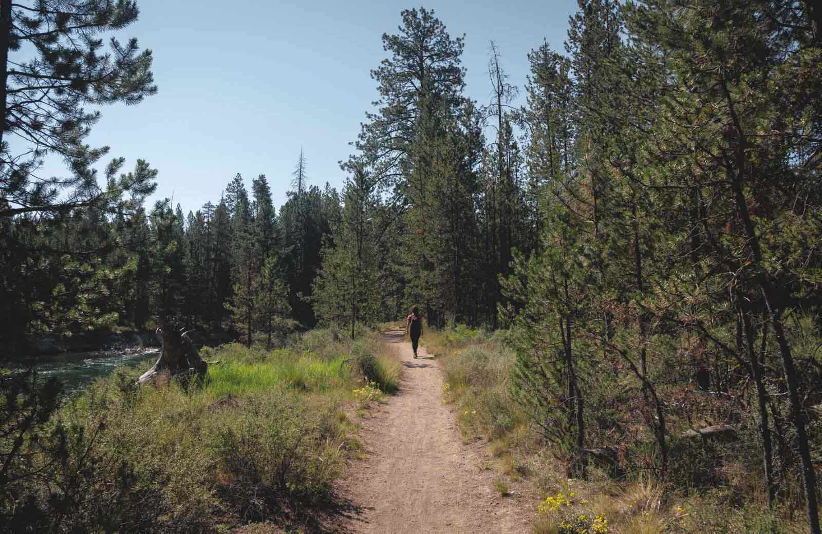 The hiking trails at LaPine State Park are fun and beautiful!