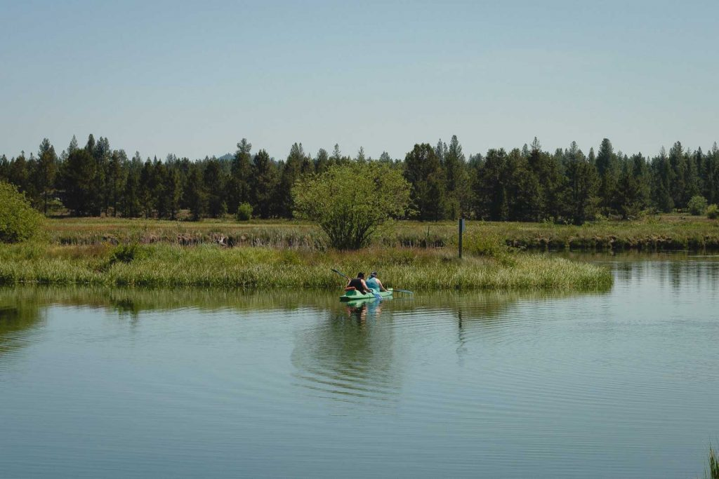 Kayaking is a fun activity to do when visiting LaPine State Park.