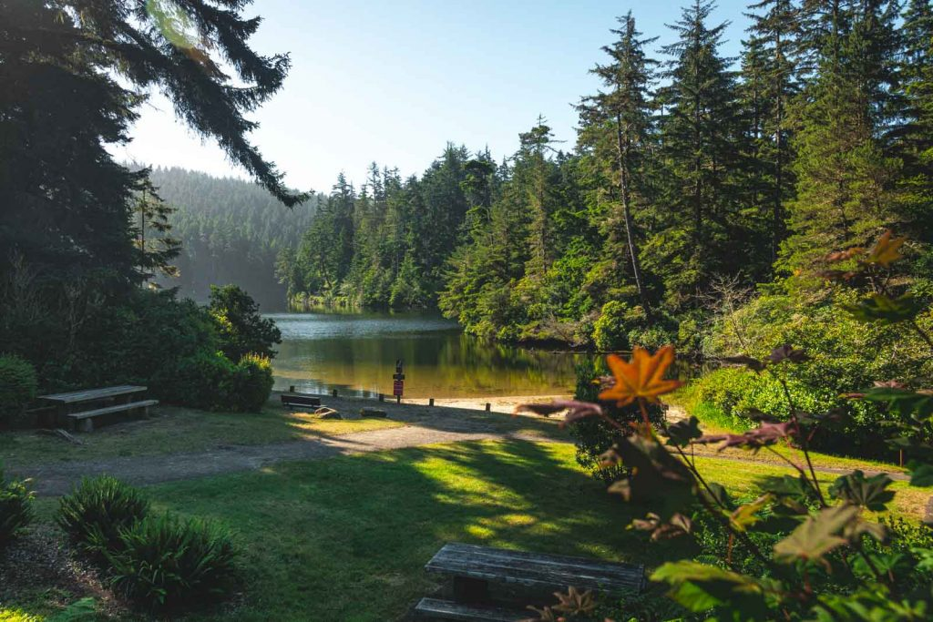 Lake Marie is an easy hike to do while exploring Oregon dunes.
