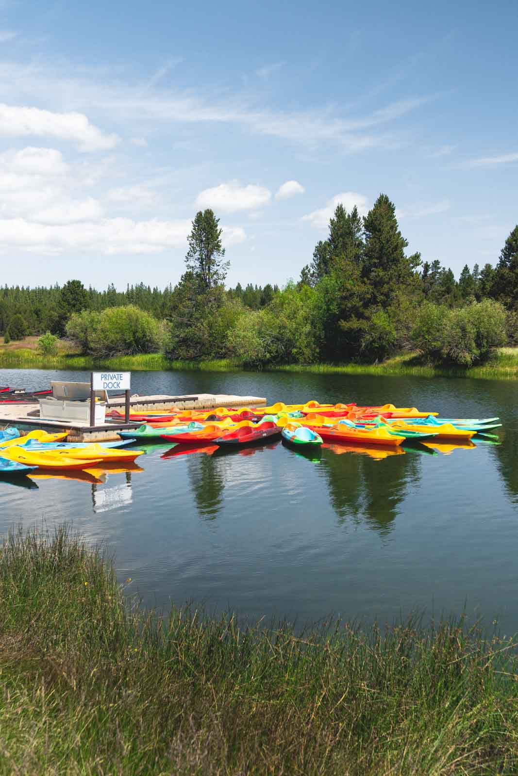 Kayaking is a fun thing to do in Sunriver.