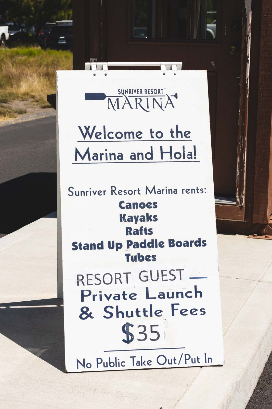 If you're looking for fun things to do in Sunriver, head to Sunriver Marina and get some outdoor equipment.