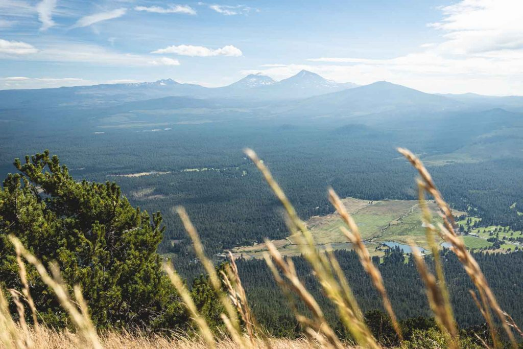 Mountain views from Black Butte summit