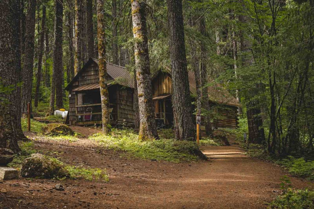 Rustic Clear Lake Lodge in the forest