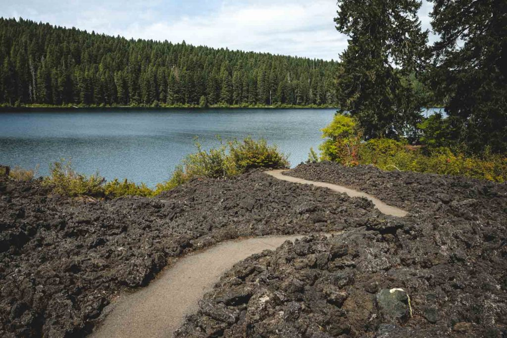 Trail through old lava by Clear Lake