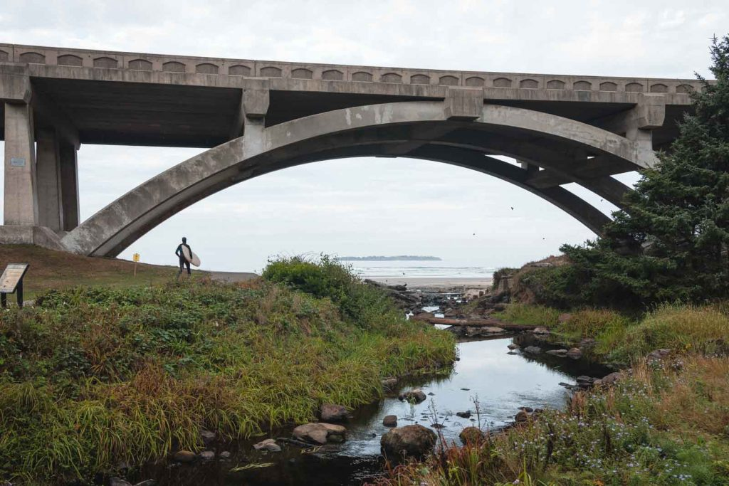 Bridge and river at Beverly Beach - one of the best Oregon Coast State Parks