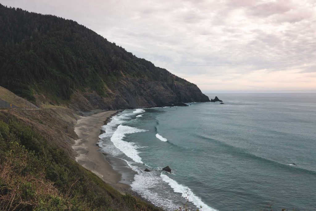 Coastal views of Humbug Mountain State Park, one of the Oregon Coast State Parks