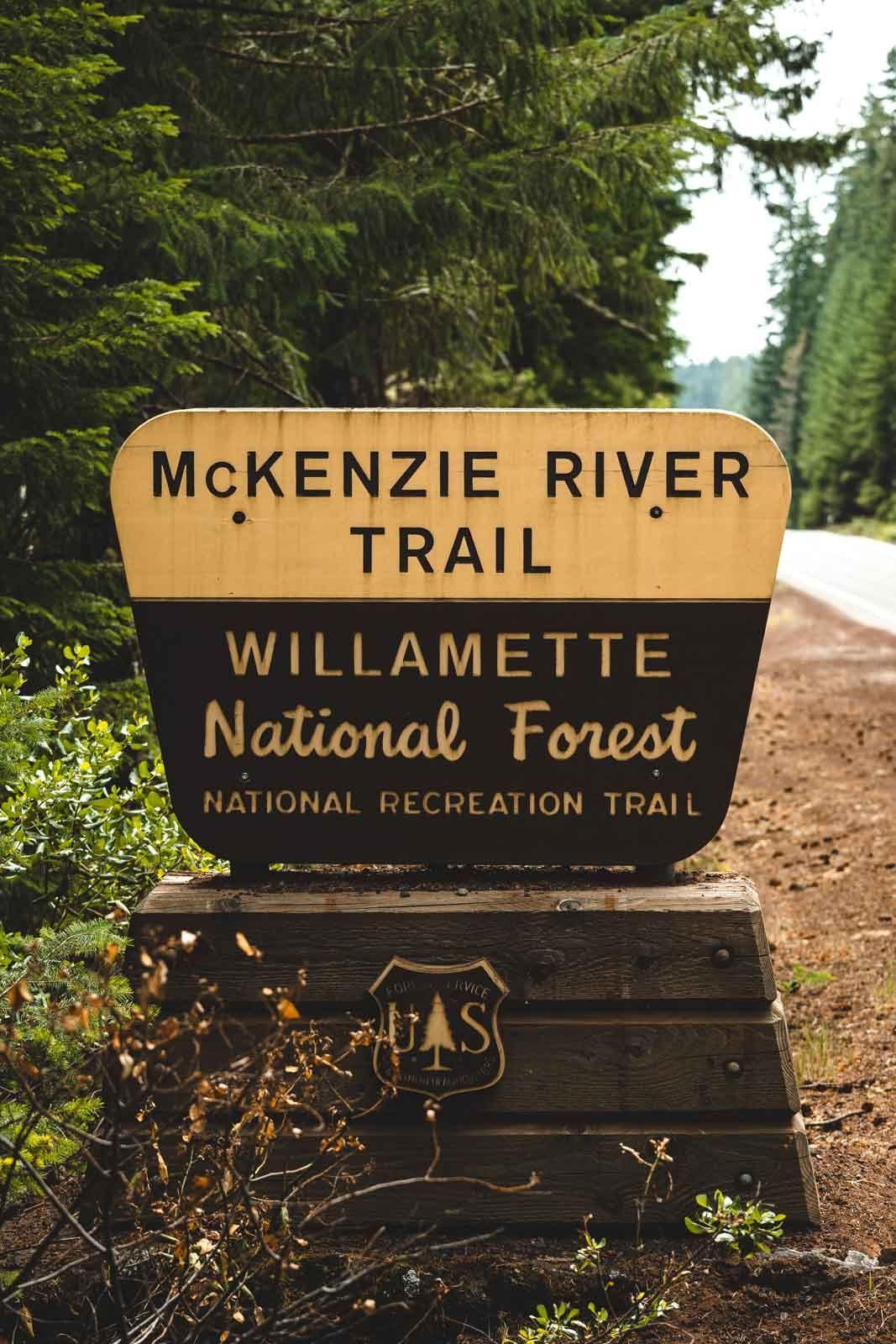 McKenzie River Trail sign